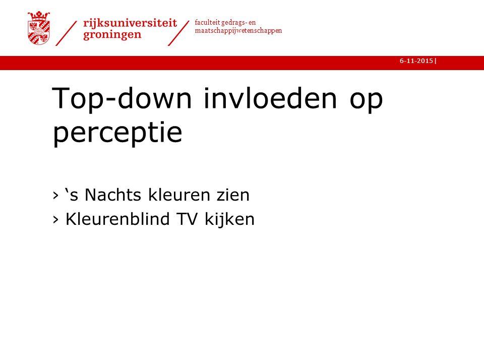 Top-down invloeden op perceptie