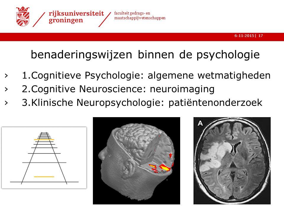 benaderingswijzen binnen de psychologie