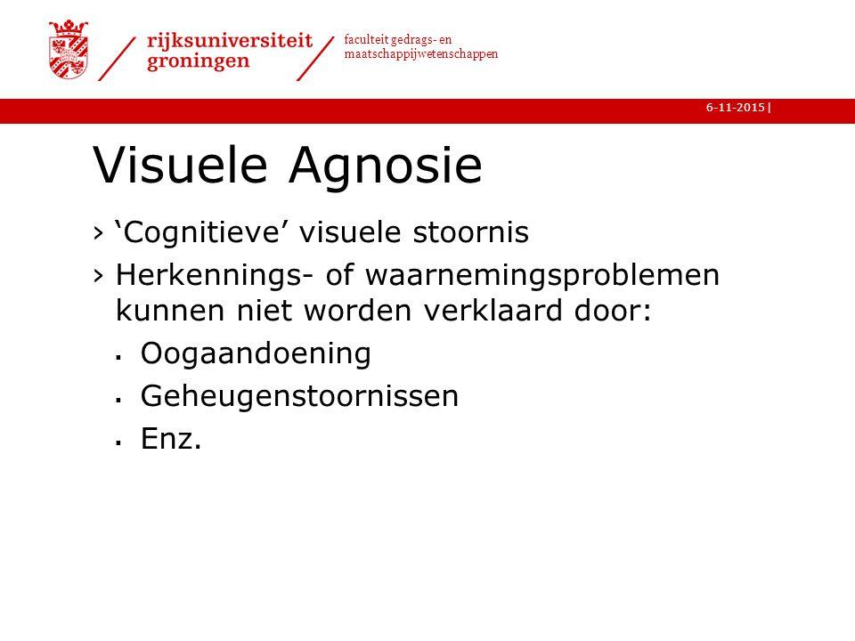 Visuele Agnosie 'Cognitieve' visuele stoornis