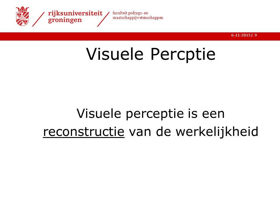 Visuele perceptie is een reconstructie van de werkelijkheid