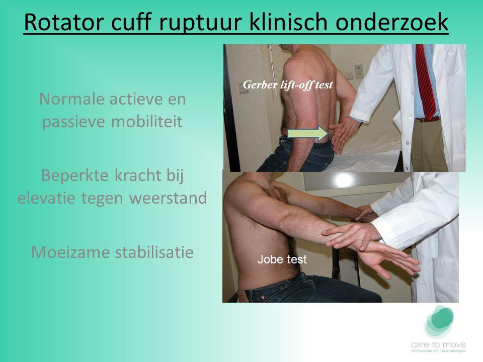 Rotator cuff ruptuur klinisch onderzoek