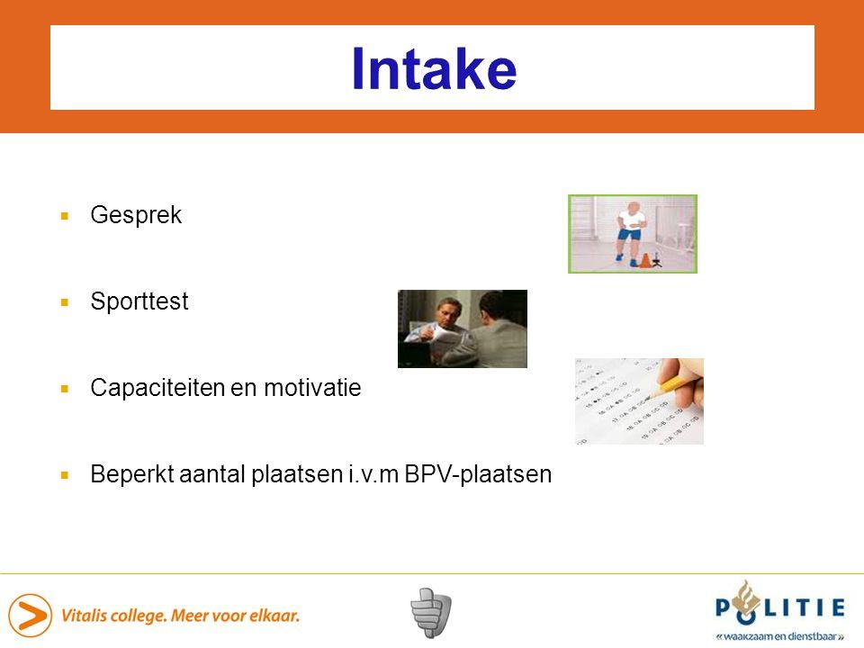 Intake Gesprek Sporttest Capaciteiten en motivatie