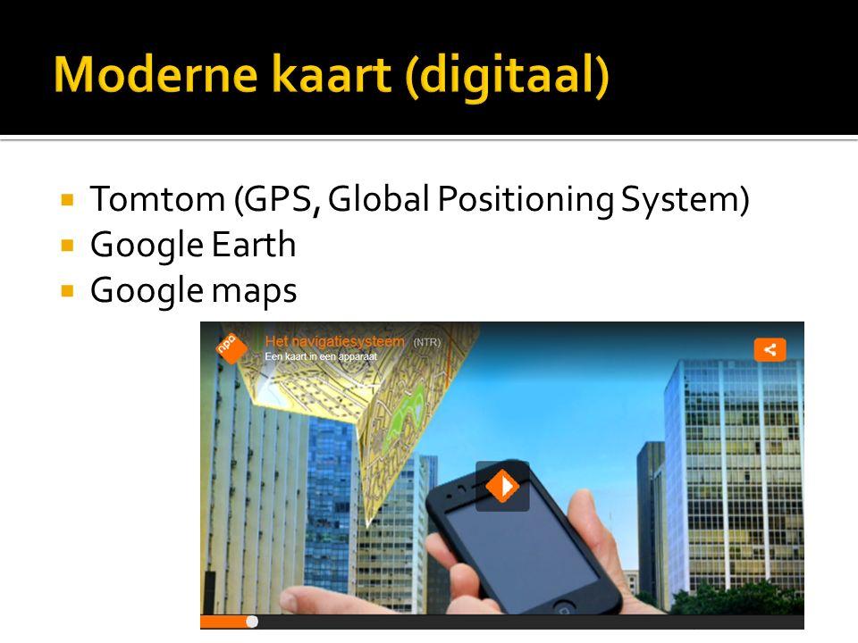 Moderne kaart (digitaal)