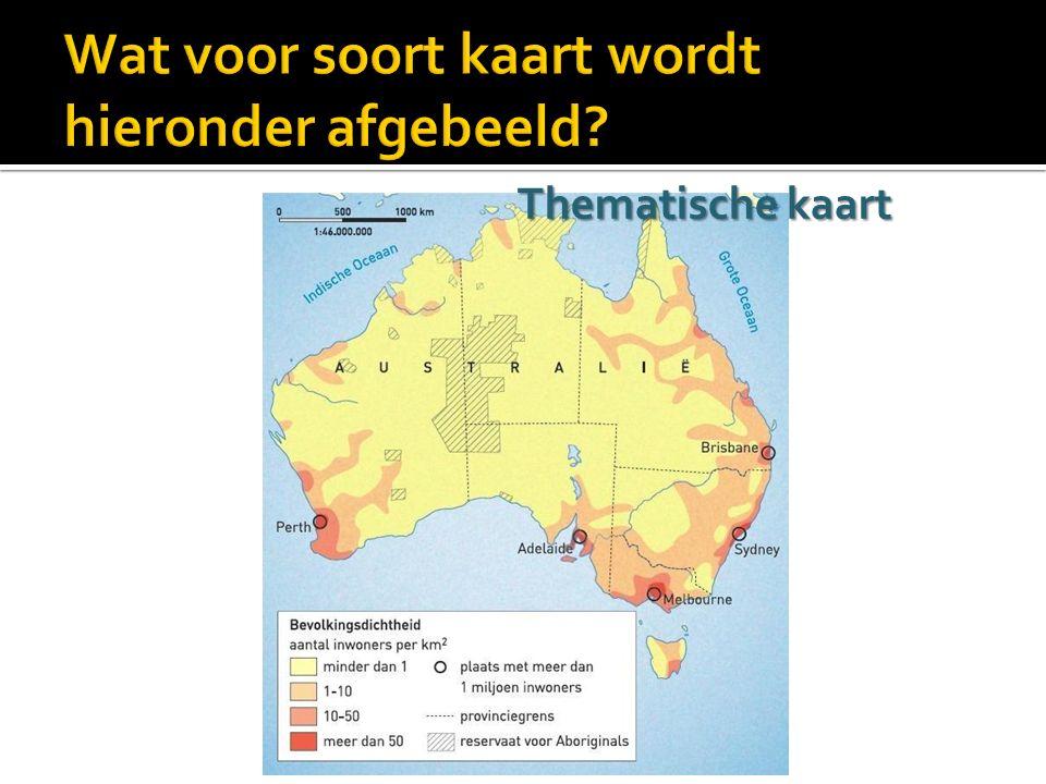 Wat voor soort kaart wordt hieronder afgebeeld