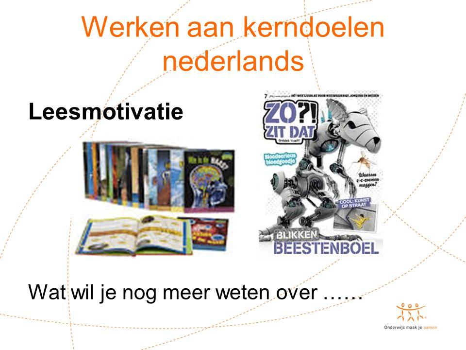 Werken aan kerndoelen nederlands