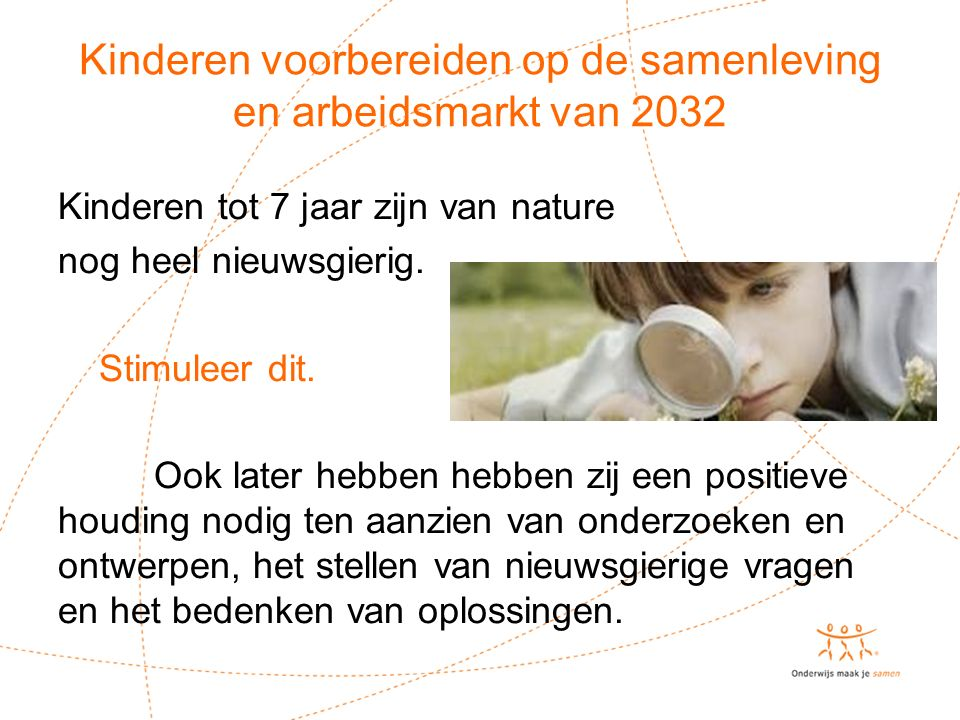 Kinderen voorbereiden op de samenleving en arbeidsmarkt van 2032