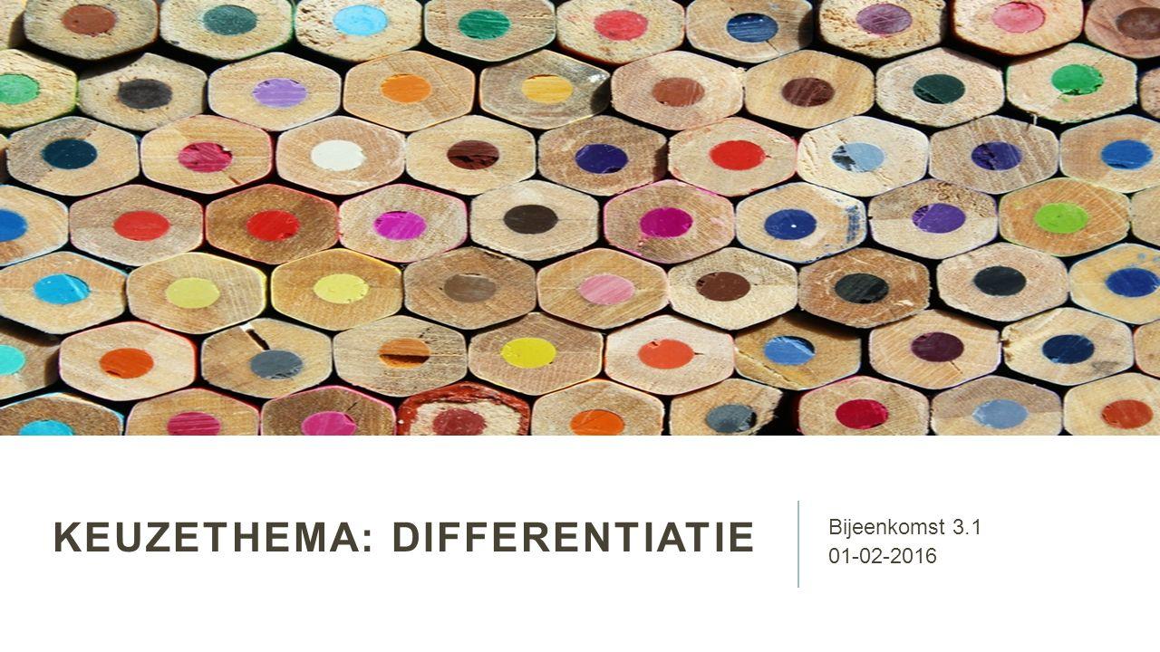 Keuzethema: differentiatie