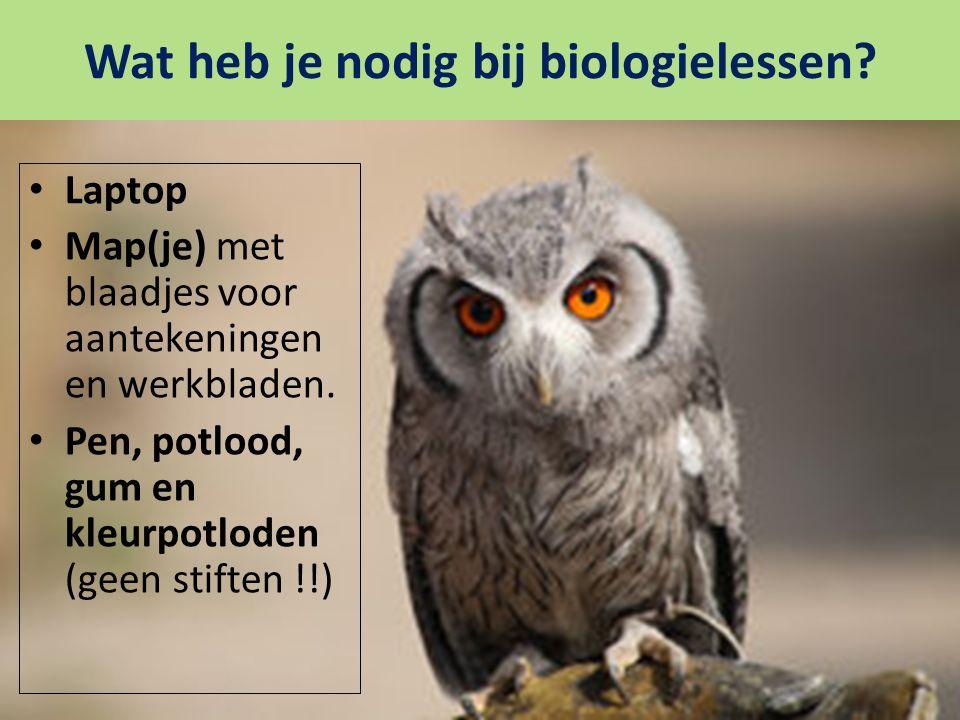Wat heb je nodig bij biologielessen