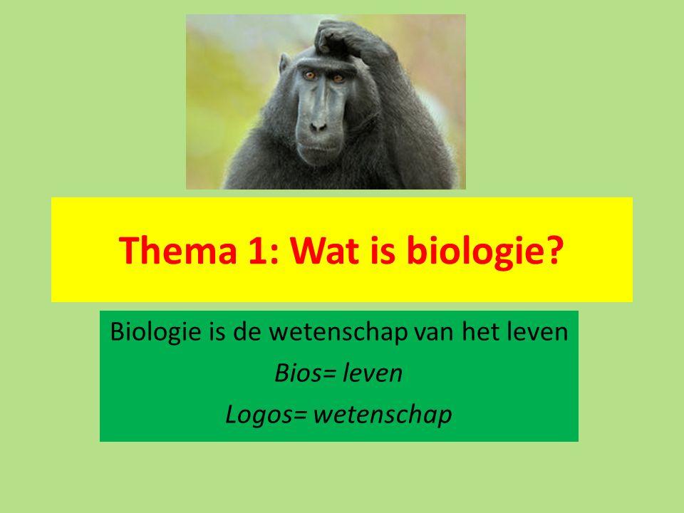 Biologie is de wetenschap van het leven Bios= leven Logos= wetenschap