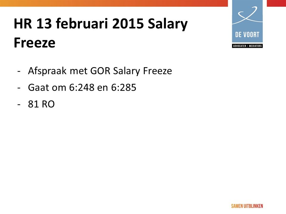 HR 13 februari 2015 Salary Freeze