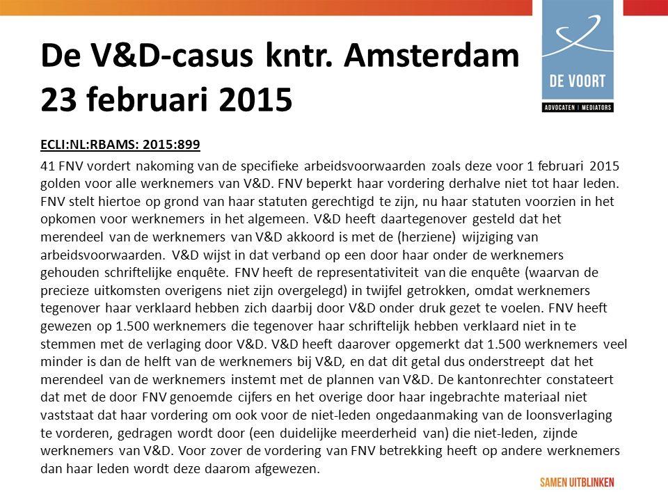 De V&D-casus kntr. Amsterdam 23 februari 2015