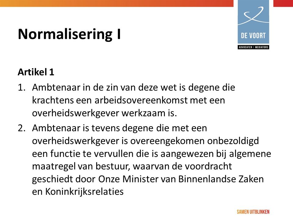 Normalisering I