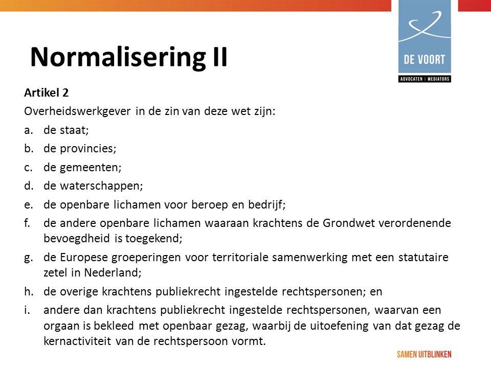 Normalisering II