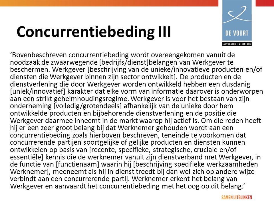 Concurrentiebeding III