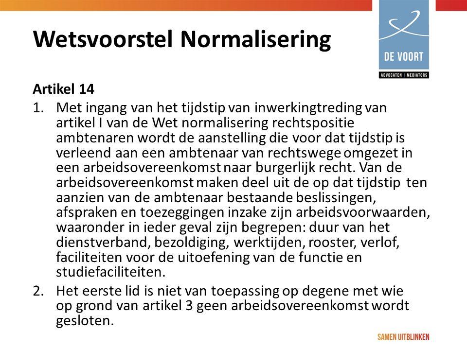 Wetsvoorstel Normalisering