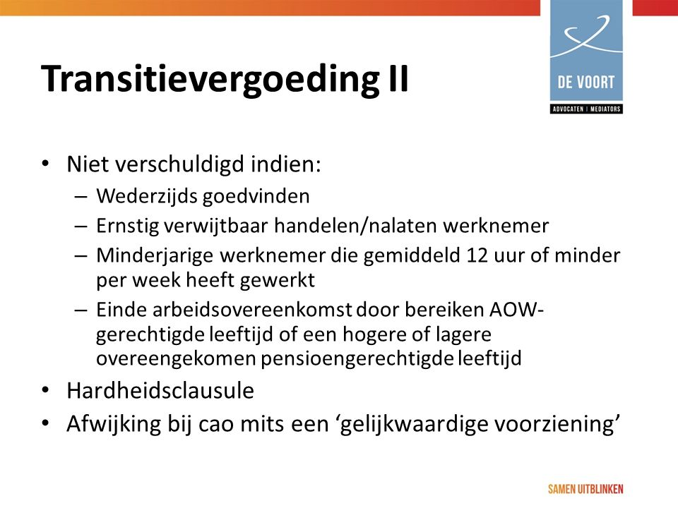 Transitievergoeding II