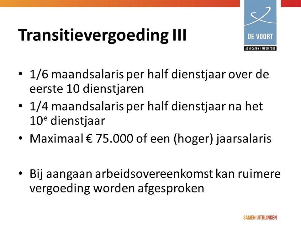 Transitievergoeding III