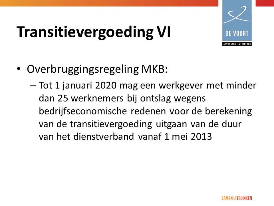 Transitievergoeding VI