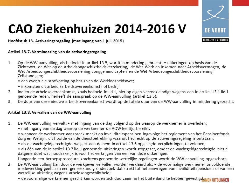 CAO Ziekenhuizen 2014-2016 V