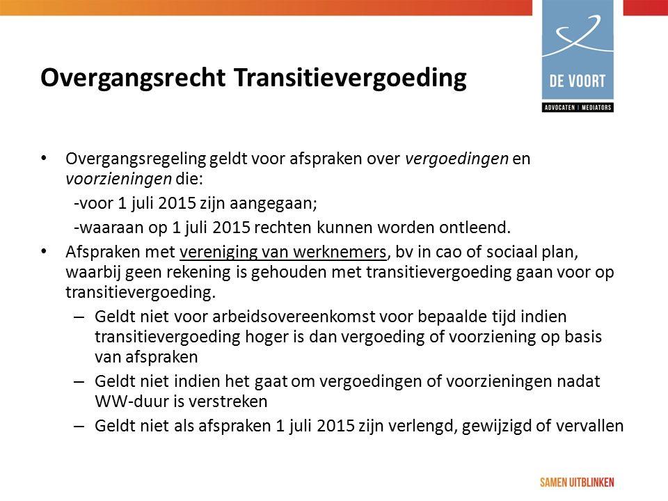 Overgangsrecht Transitievergoeding