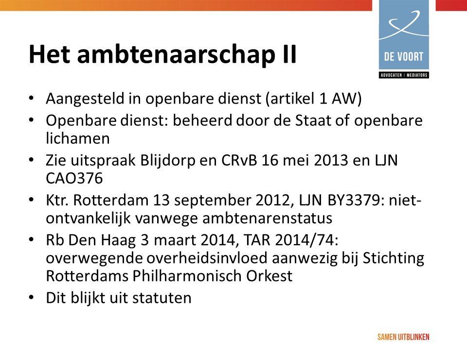 Het ambtenaarschap II Aangesteld in openbare dienst (artikel 1 AW)