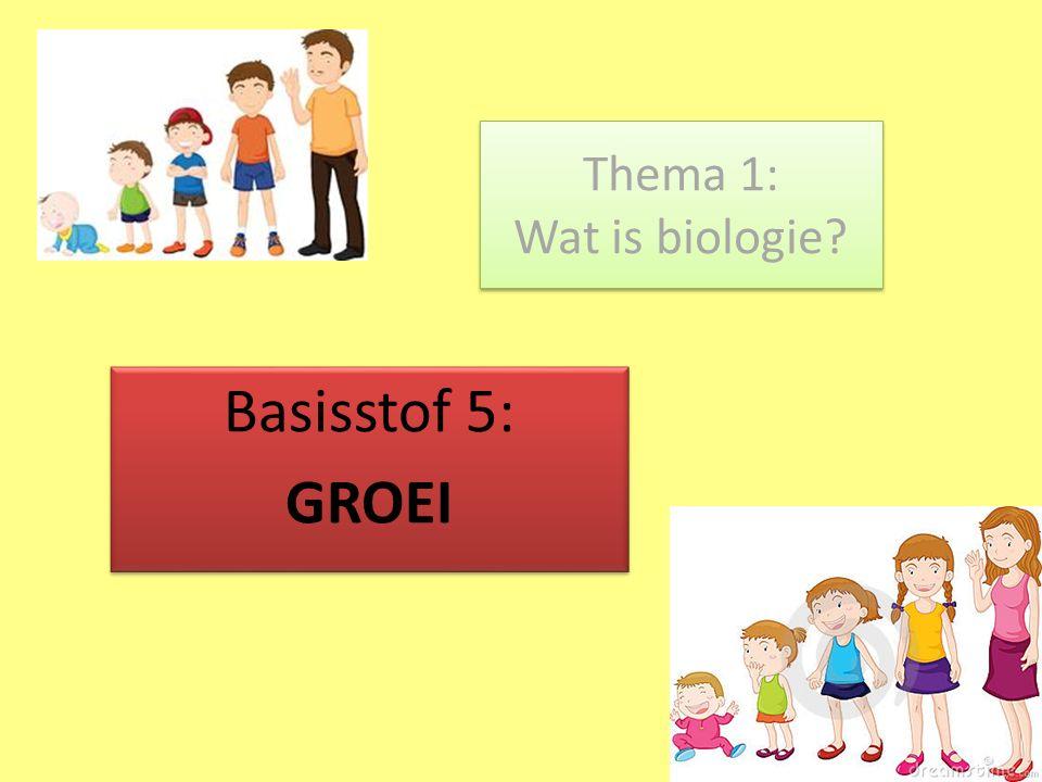 Thema 1: Wat is biologie Basisstof 5: GROEI