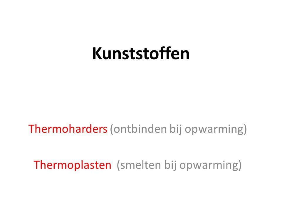 Kunststoffen Thermoharders (ontbinden bij opwarming)