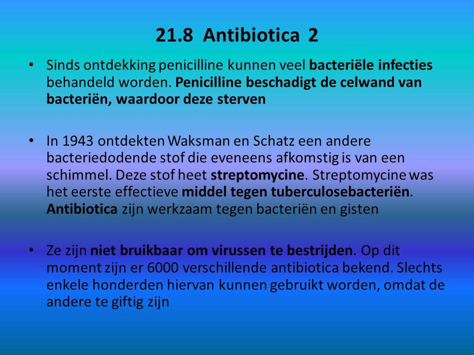 21.8 Antibiotica 2