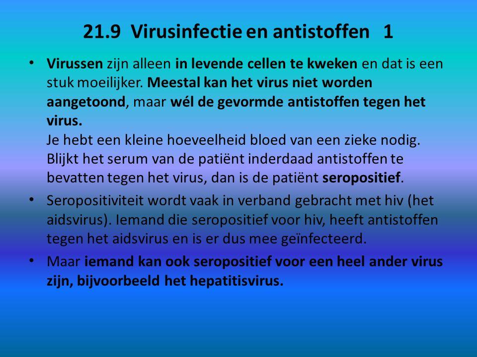 21.9 Virusinfectie en antistoffen 1