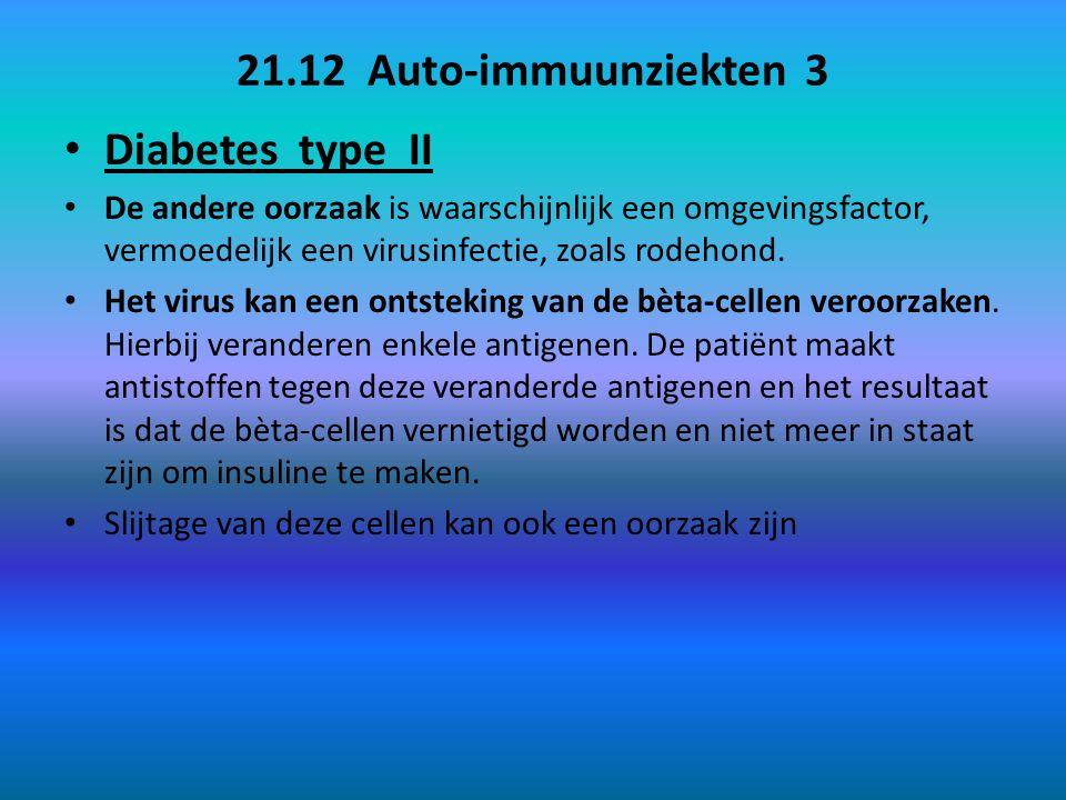 21.12 Auto-immuunziekten 3 Diabetes type II