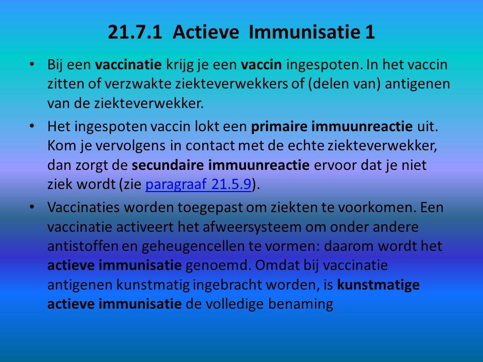 21.7.1 Actieve Immunisatie 1