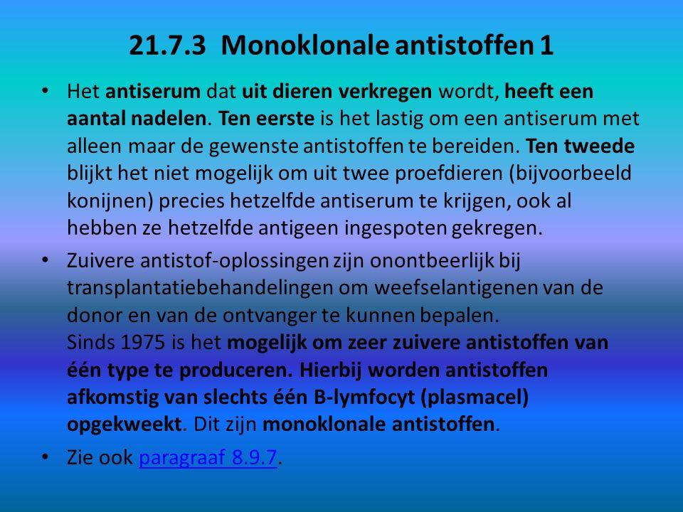 21.7.3 Monoklonale antistoffen 1