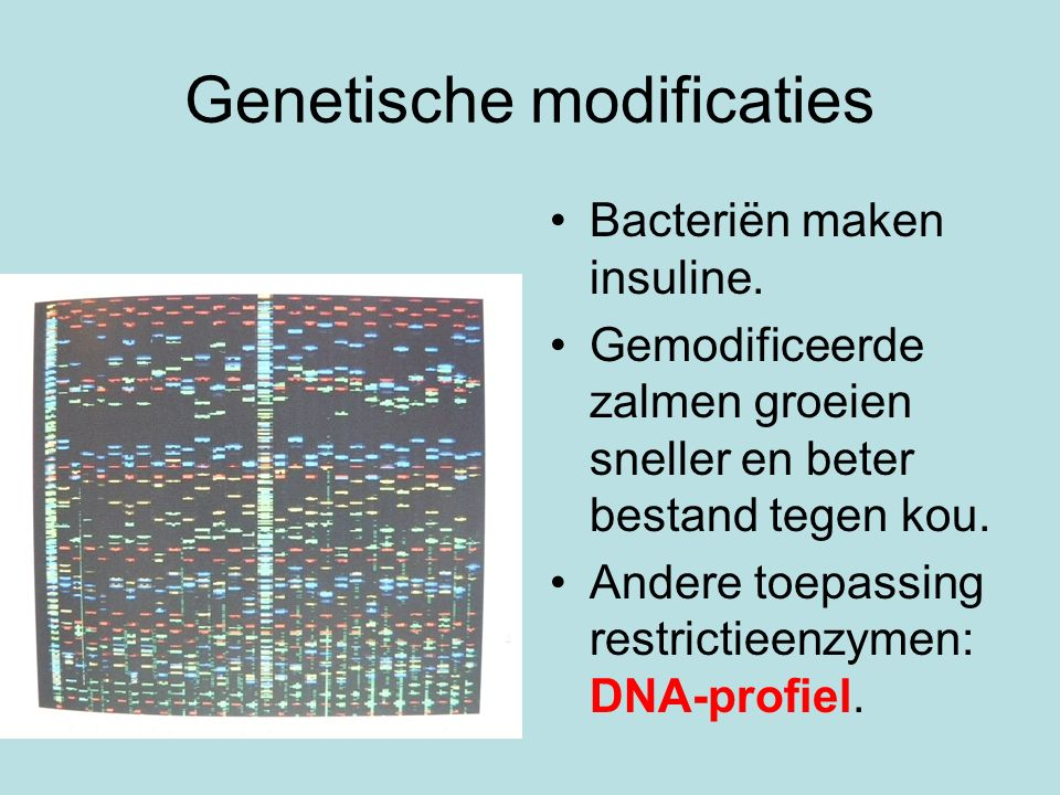 Genetische modificaties