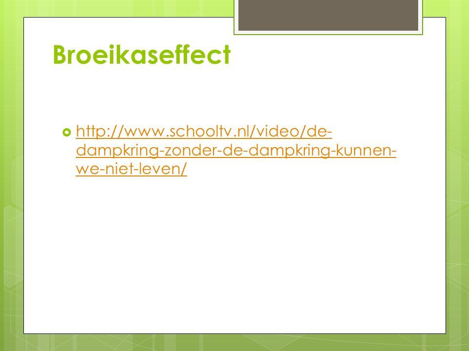 Broeikaseffect http://www.schooltv.nl/video/de-dampkring-zonder-de-dampkring-kunnen-we-niet-leven/
