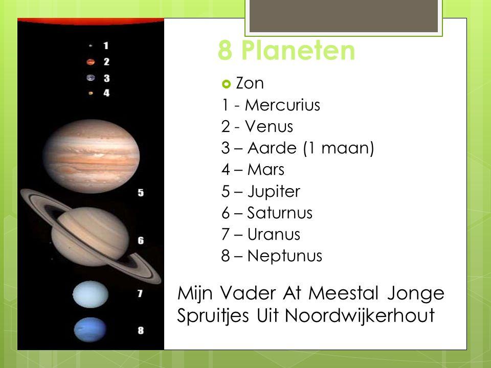 8 Planeten Mijn Vader At Meestal Jonge Spruitjes Uit Noordwijkerhout