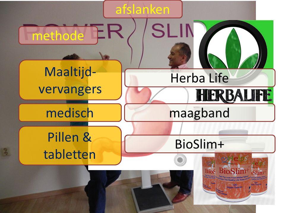 afslanken methode Maaltijd-vervangers Herba Life medisch maagband Pillen & tabletten BioSlim+