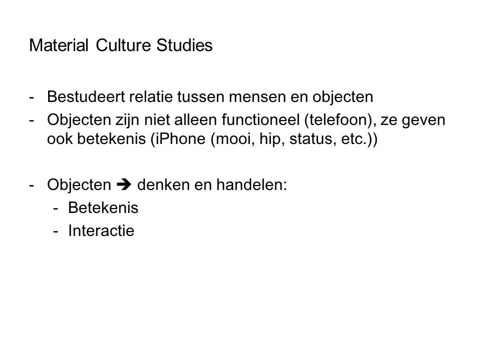 Material Culture Studies
