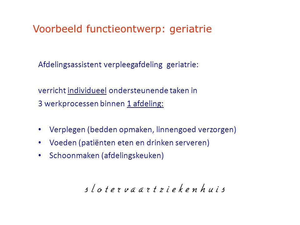 Voorbeeld functieontwerp: geriatrie