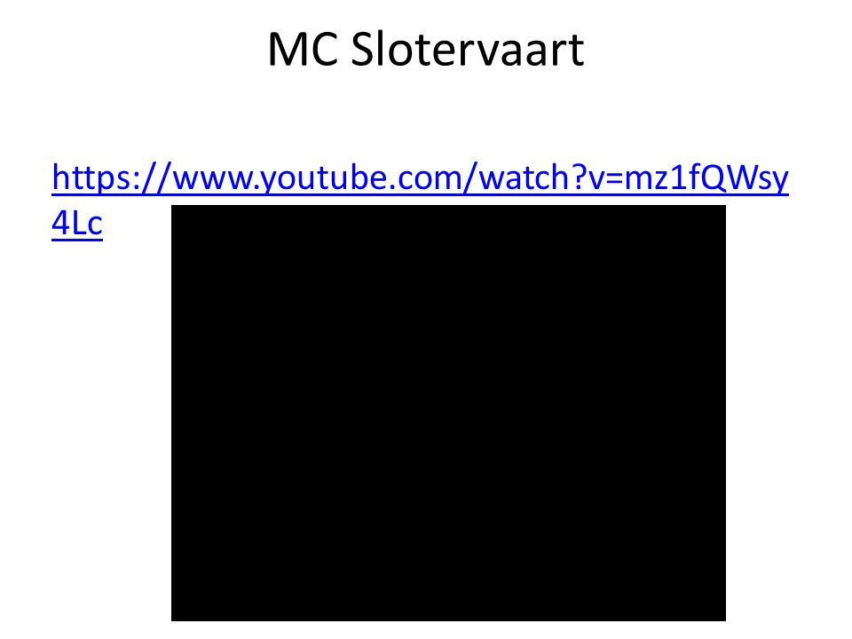 MC Slotervaart https://www.youtube.com/watch v=mz1fQWsy4Lc
