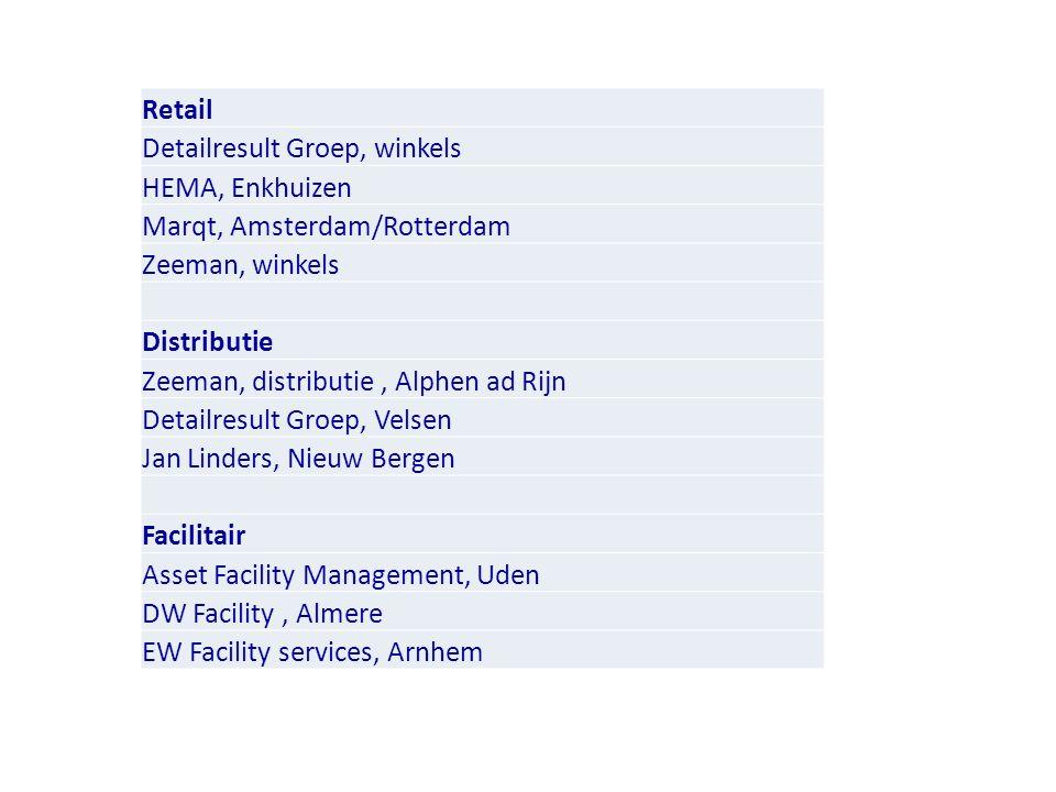 Retail Detailresult Groep, winkels. HEMA, Enkhuizen. Marqt, Amsterdam/Rotterdam. Zeeman, winkels.