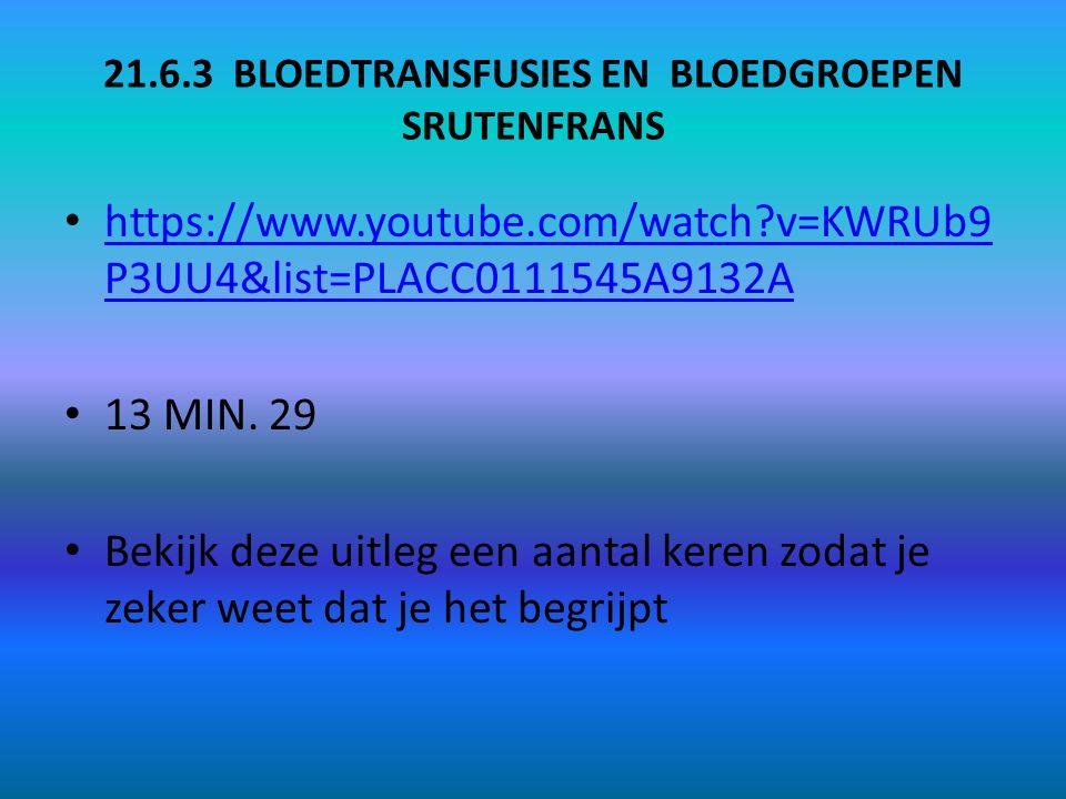 21.6.3 BLOEDTRANSFUSIES EN BLOEDGROEPEN SRUTENFRANS
