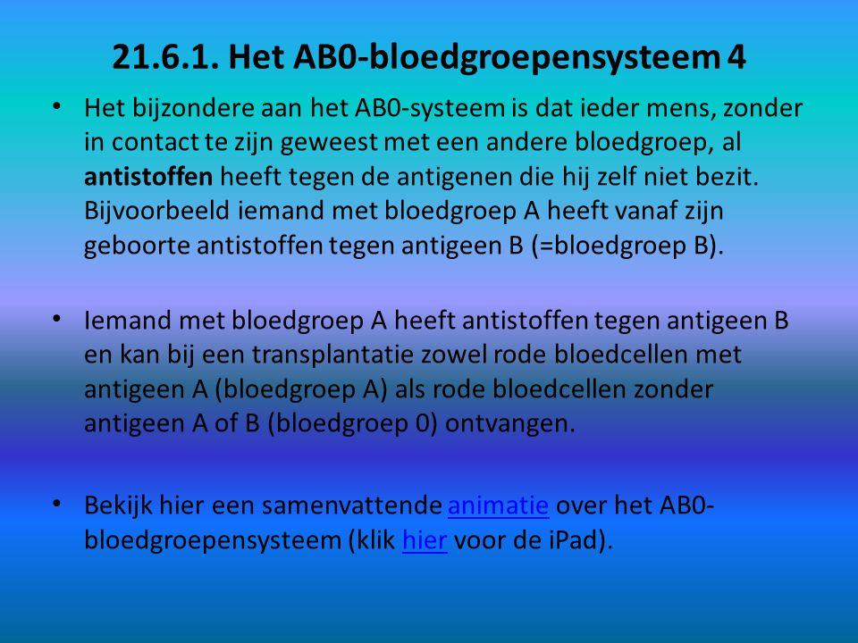 21.6.1. Het AB0-bloedgroepensysteem 4