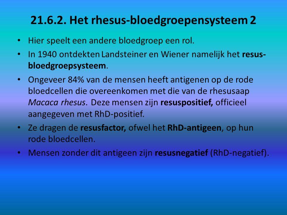 21.6.2. Het rhesus-bloedgroepensysteem 2