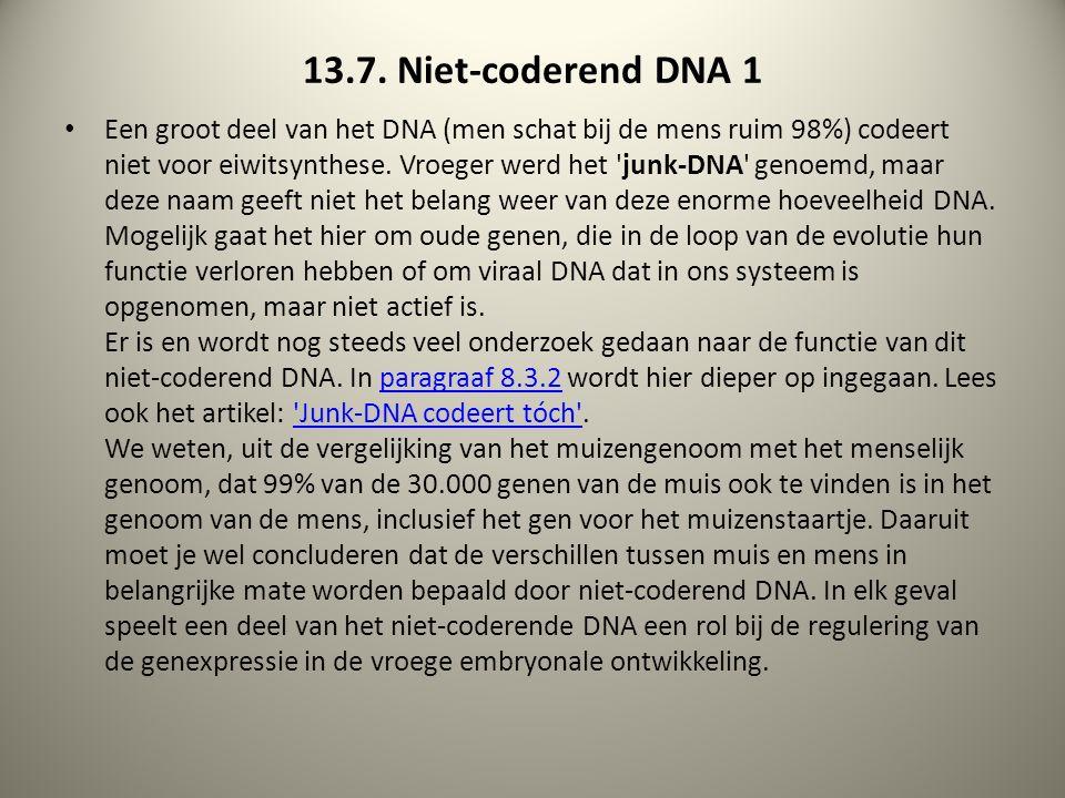13.7. Niet-coderend DNA 1