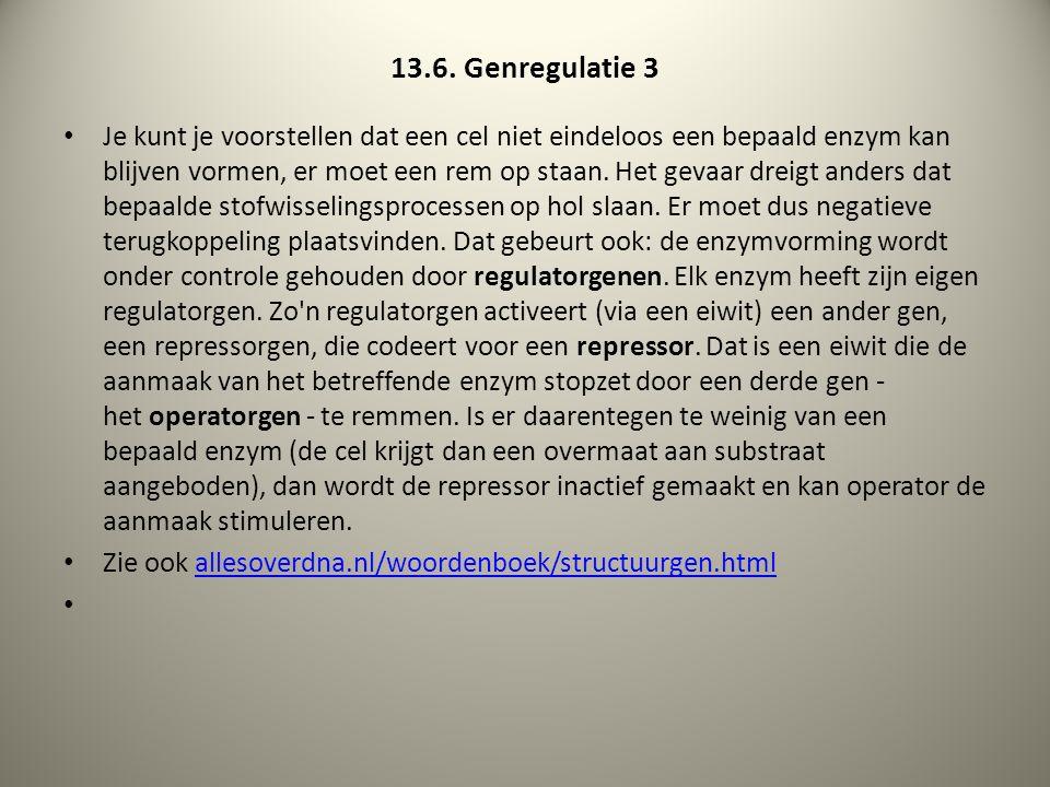 13.6. Genregulatie 3