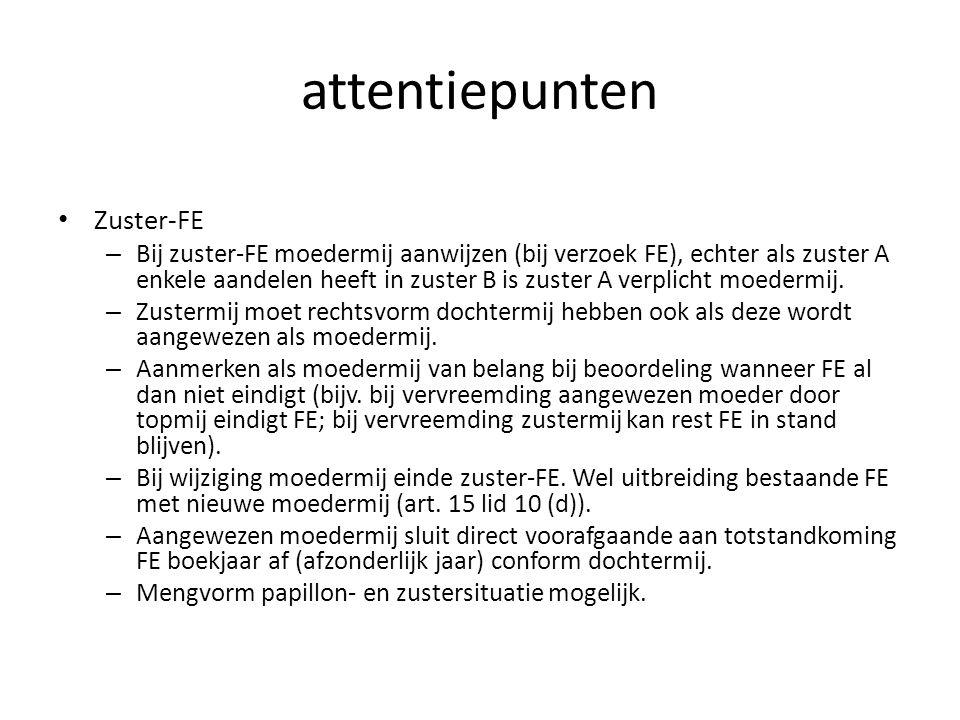 attentiepunten Zuster-FE