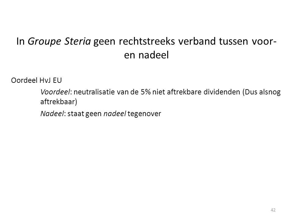 In Groupe Steria geen rechtstreeks verband tussen voor- en nadeel