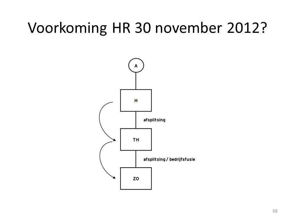 Voorkoming HR 30 november 2012