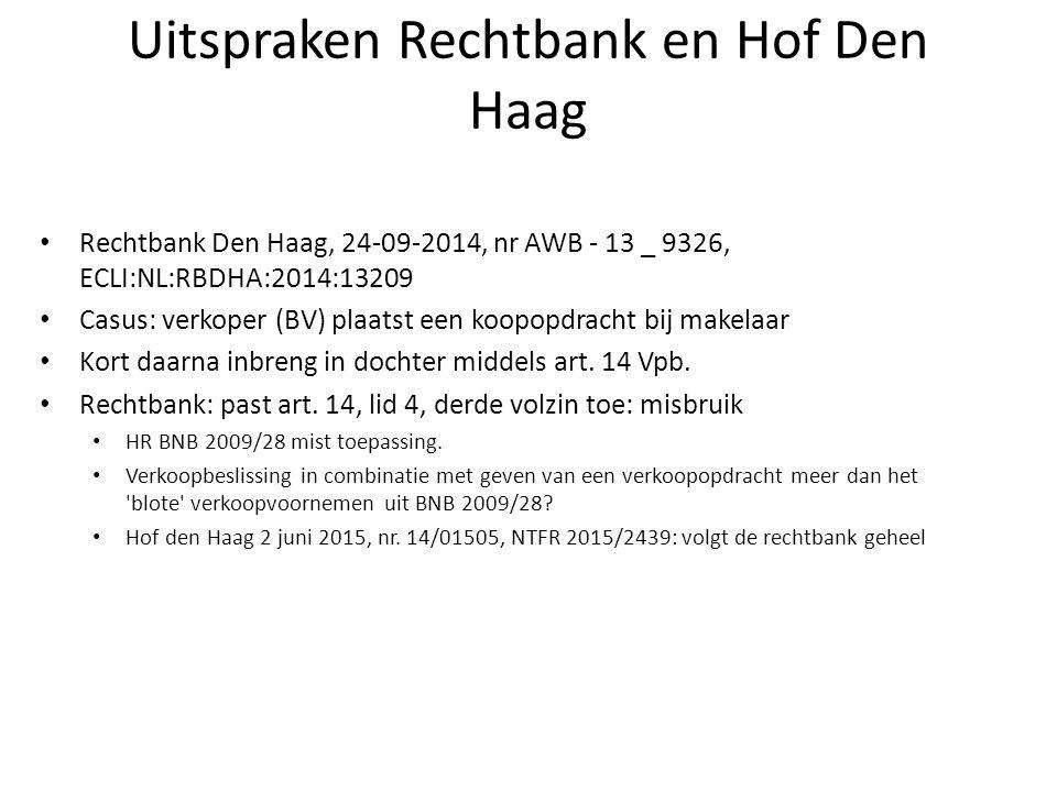 Uitspraken Rechtbank en Hof Den Haag