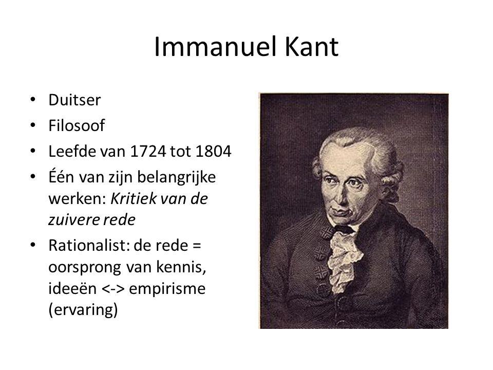 Immanuel Kant Duitser Filosoof Leefde van 1724 tot 1804